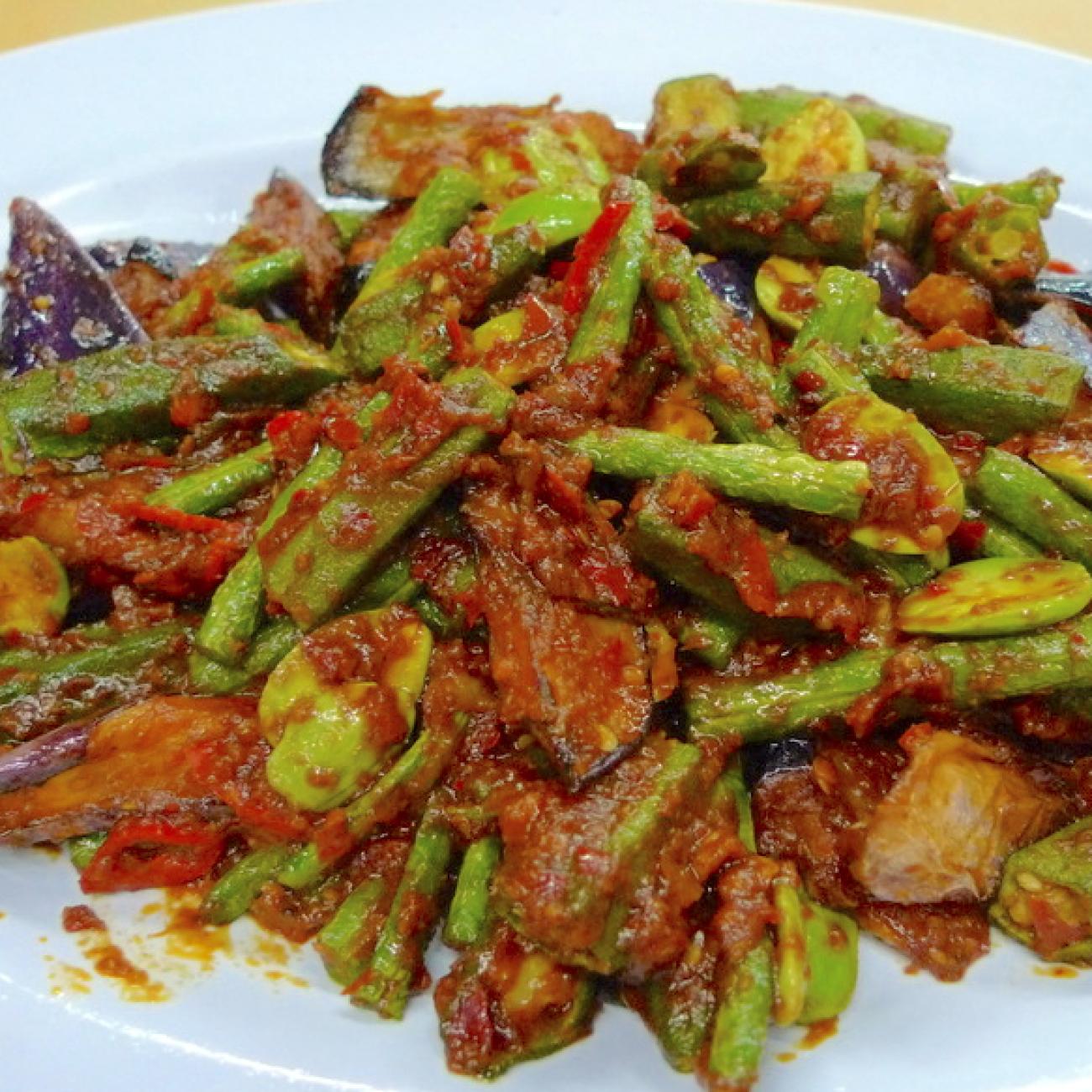 Stir Fry Vegetables with Sambal