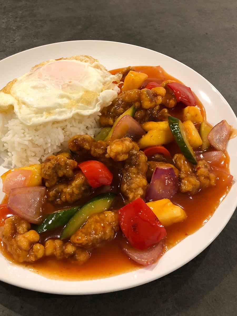 Sweet and Sour Pork (Gu Lou Yoke 咕噜肉)