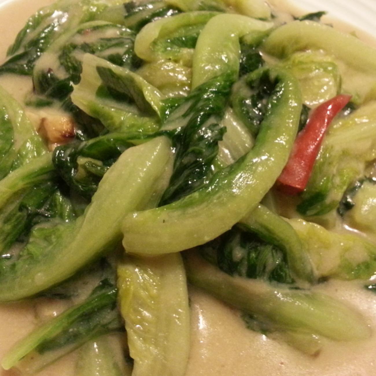 Lettuce with Fermented Tofu (Fu Yu Yau Mak 腐乳油麥)